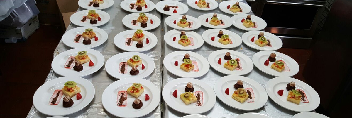 Catered plated desserts