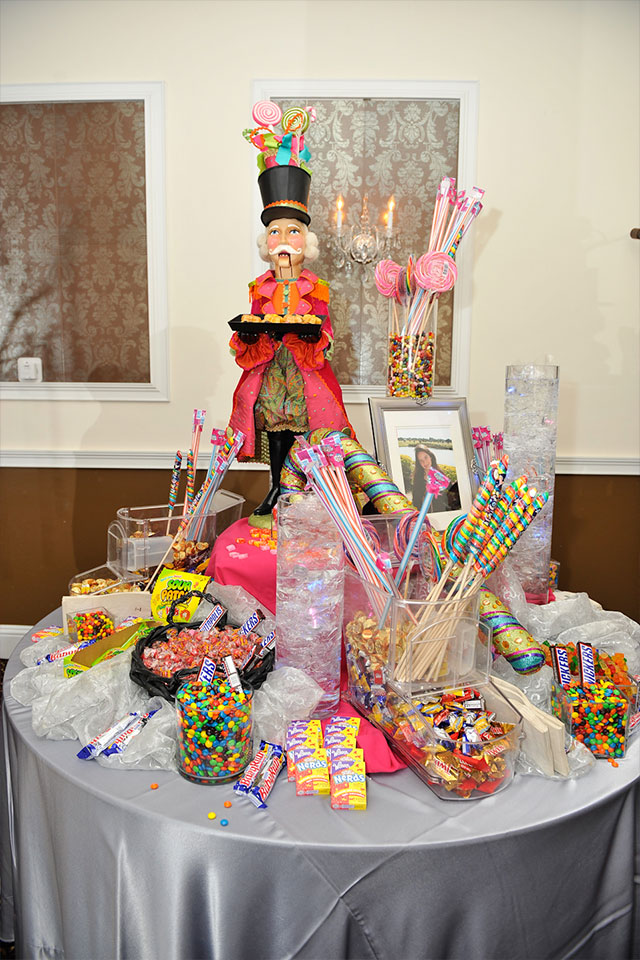 Catered candy table